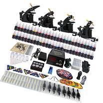 Solong Tattoo® Complete Tattoo Kit 4 Pro Machine Guns 54