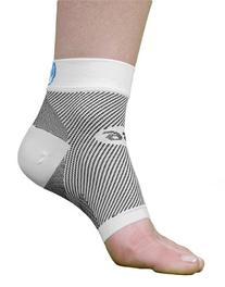 OrthoSleeve FS6 Compression Foot Sleeve , White, Medium