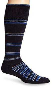 Sockwell Men's Concentric Stripe Socks, Large/X-Large, Navy