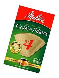 Melitta Cone Coffee Filters Natural Brown #4