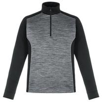 North End Mens Conquer Perf Mélange Interlock Zip Top  -