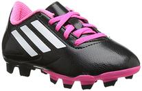 adidas Performance Conquisto Firm-Ground J Soccer Cleat ,Black/White/Solar Pink,6 M US Big Kid
