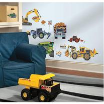 Construction Vehicles Peel & Stick Wall Decals