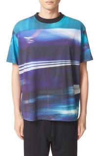 Men's Y-3 Continuum T-Shirt, Size X-Large - Blue