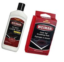 Weiman Cook Top Scrubbing Pads with Glass Cook Top Cleaner