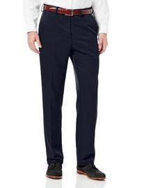 Men's Cool 18 Straight Fit Plain Front Solid Gabardine Pant