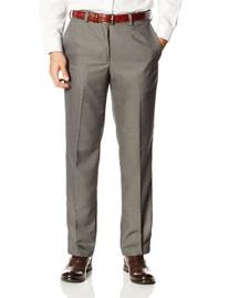 Haggar Men's Cool 18 Straight Fit Plain Front Heather