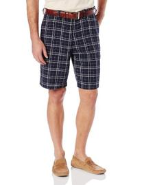 Haggar Men's Cool 18 Woven Plaid Color Ground Plain Front