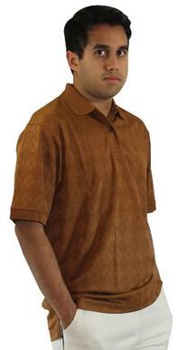 HATHAWAY CoolMax Jacquard Mesh Golf Polo Shirt