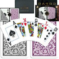 Copag 1546 Poker Purple/Gray Jumbo Index, Playing Cards