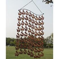 Monarch Copper Cascading Butterflies Wind Art Wind Chimes-