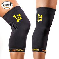 CopperJoint Copper Knee Brace, 1 Compression Fit Support -