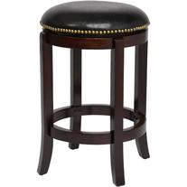 "Boraam 24"" Cordova Swivel Counter Stool, Cherry"