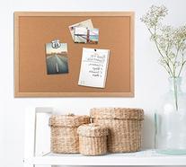 U Brands Cork Bulletin Board, 23 x 17 Inches, Light Birch