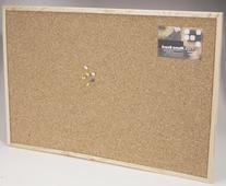Cork Memo Board with Push Pins and Wood Frame - 16 x 24
