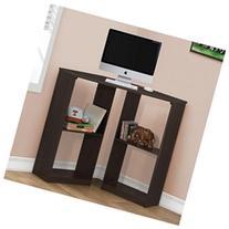 Corner Computer Desk, Cappuccino
