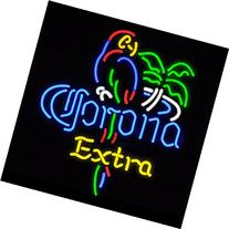 FS Neon Sign Corona Extra Parrot Bird Right Palm Tree