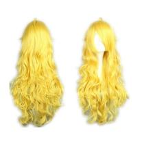 COSPLAZA Cosplay Wigs Long Curly Wavy Long Yellow Lovely