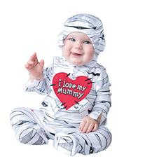 InCharacter Costumes Baby's I Love My Mummy Costume, White,