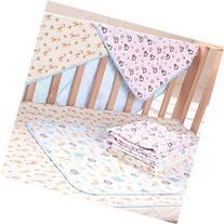 Elf Star Cotton Bamboo Fiber Breathable Waterproof Underpads Mattress Pad Sheet Protector for Children or Adults, Elephant and Giraffe Print, 27