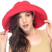 Simplicity Summer Solid Cotton Bucket Hat with Big Fold-Up