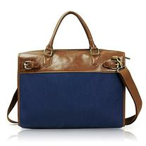 Lavievert Cotton Canvas and Crazy-horse PU Leather Laptop