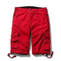 OCHENTA Men's Cotton Casual Multi Pockets Cargo Shorts #3231