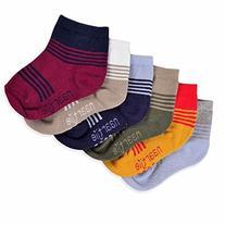Naartjie Kids Boys Cotton Sports Crew Socks Stripes Color