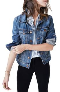 Women's Madewell Cotton Denim Jacket, Size X-Large - Blue