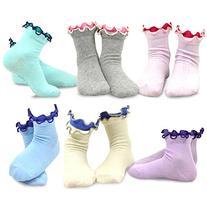 Naartjie Girls Cotton Double Ruffle Short Crew Socks 6-Pack