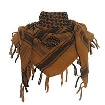 Explore Land 100% Cotton Military Shemagh Tactical Desert Keffiyeh Scarf Wrap