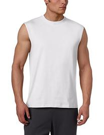 Russell Athletic Men's Cotton Muscle Shirt, White, X-Large