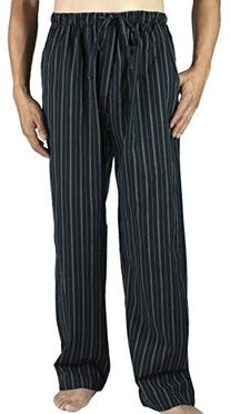 Leisureland Men's Cotton Poplin Pajama Lounge Sleep Pants
