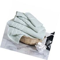 Lavish Home 100% Cotton Rice Weave 6 Piece Towel Set