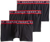 Tommy Hilfiger Men's 3-Pack Cotton Stretch Trunk, Black,