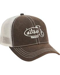 Justin Boots Men's Cotton Twill Oil Cloth Ball Cap with Mesh