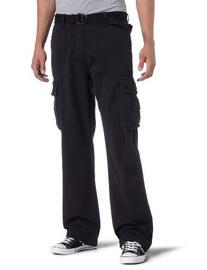 Unionbay Men's Cotton Twill Survivor Cargo Pant, Black Belt