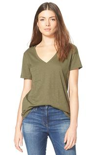 Women's Madewell 'Whisper' Cotton V-Neck Pocket Tee, Size