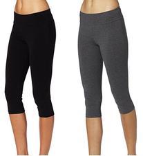 ABUSA Women's Cotton Workout Tights Capri YOGA Pants Size M