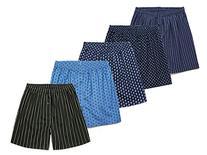 CYZ 5-Pack Men's 100% Cotton Woven Boxers Value Pack-
