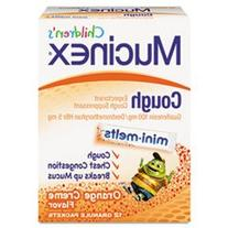 Mucinex Children's Cough Mini-Melts-Orange Cream-12 ct