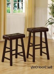 Country Series Bar Stool, Dark Cherry Finish with Faux