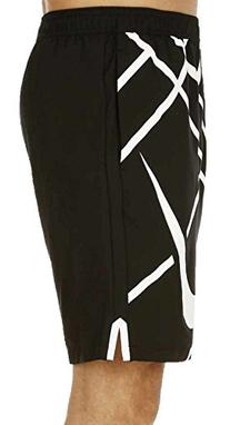 Nike 9 Inch Graphic Court Tennis Shorts Black/White