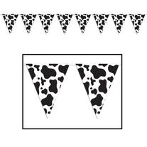 Cow Print Pennant Banner Party Accessory