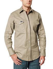 Wrangler Men's Twill Work Shirt Khaki XX-Large