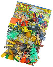 COWBOYS and INDIANS - GIANT 42 Pc. Play Set - Teepees -
