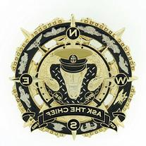 "CPO CHIEF Male Compass Coin ""Navy Chief Navy Pride"" ""Anchor"
