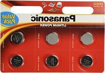 Panasonic CR2032 Battery Lithium cr-2032 3V Coin Cell pack