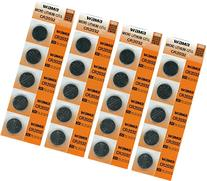 Lily's Home CR2032 Lithium 3V Batteries, 4 Cards of 5 - 20
