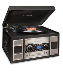 Crosley CR2413A-BK Memory Master II Turntable with Radio, CD
